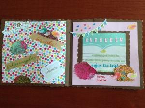 Here is the inside of that same birthday card. I love birds and flowers, and so I tend to use them a lot in my cards, especially for birthdays.