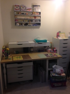 The Craft area, post-IKEA makeover. Much better, no? Totally my haven. Can't find me? Did you look here yet?