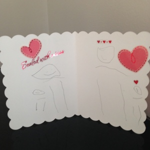 Inside that same Valentine's Day card, made by my little lady...